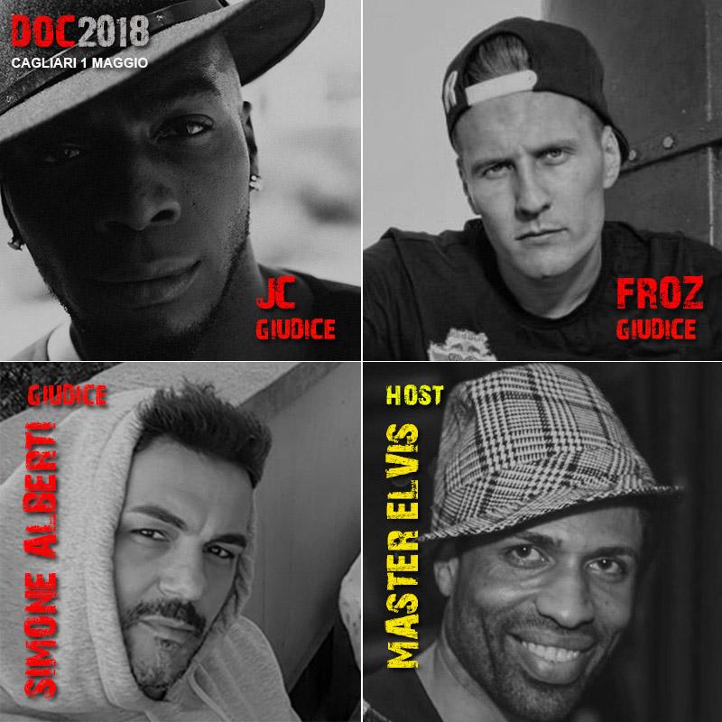 RISULTATI DOC2018 di Hip Hop e Break Dance. 1 maggio, palasport di Cagliari
